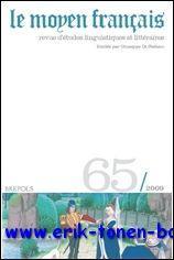 Moyen Français - 65 (2009),: N/A;