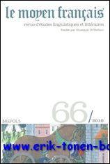 Moyen Français - 66 (2010),: N/A;