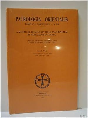 Jacob of Sarug (Jacques de Sarug) A: J.P. Amar (ed.);