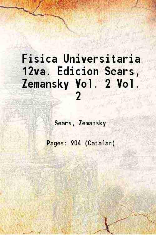 sears zemansky fisica universitaria Iberlibro