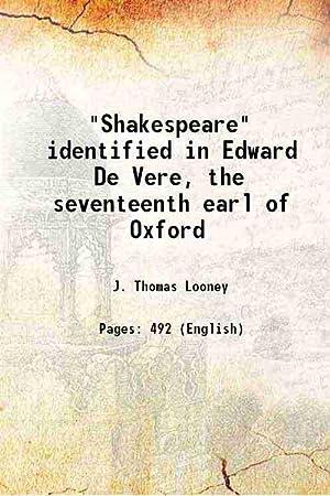 shakespeare identified edward vere seventeenth earl oxford - AbeBooks