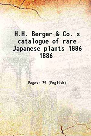 H.H. Berger & Co.'s catalogue of rare: Anonymous