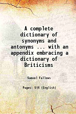 samuel fallows - complete dictionary synonyms antonyms