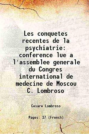 Les conquetes recentes de la psychiatrie conference: Cesare Lombroso