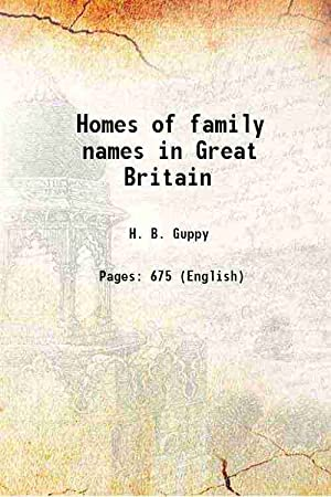 Homes Family Names Great Britain - AbeBooks