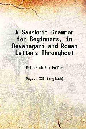 max muller - sanskrit grammar beginners devanagari roman