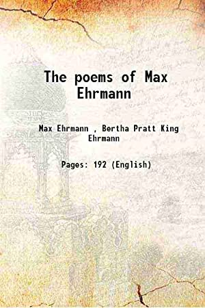 The poems of Max Ehrmann 1948: Anonymous