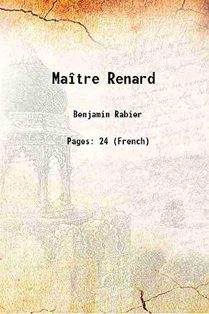 Maître Renard (1934)[HARDCOVER]: Benjamin Rabier