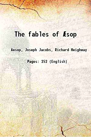 The fables of Æsop 1922 [Hardcover]: Aesop, Joseph Jacobs,