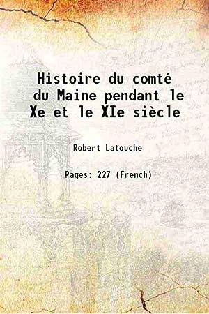 Histoire du comté du Maine pendant le: Robert Latouche