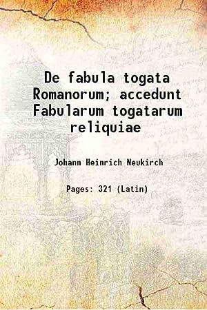 De fabula togata Romanorum; accedunt Fabularum togatarum: Johann Heinrich Neukirch