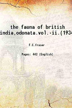 the fauna of british india,odonata.vol.-ii.(1934) 1934: F.C.fraser