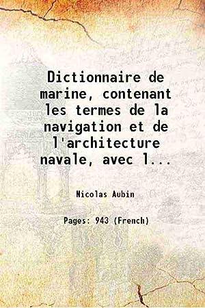 Dictionnaire de marine, contenant les termes de: Nicolas Aubin
