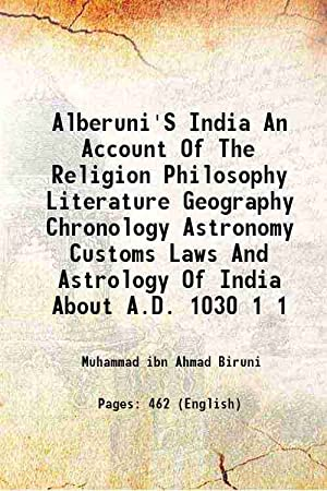 Alberuni'S India An Account Of The Religion: Muhammad ibn Ahmad