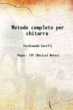 Metodo completo per chitarra: Ferdinando Carulli