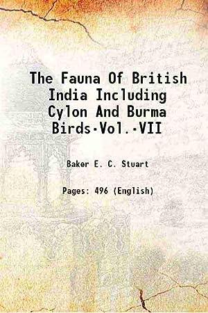 The Fauna Of British India Including Cylon: Baker E. C.