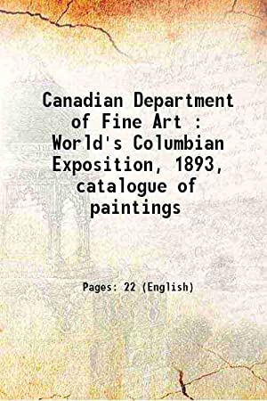 Canadian Department of Fine Art : World's: Anonymous
