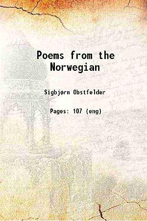 Slikovni rezultat za Sigbjørn Obstfelder, Poems from the Norwegian, Blackwell, 1920.