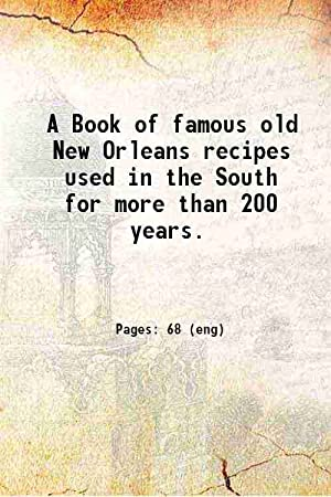 A Book of famous old New Orleans: Anonymous