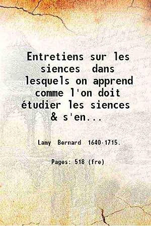 Entretiens sur les siences dans lesquels on: Bernard Lamy