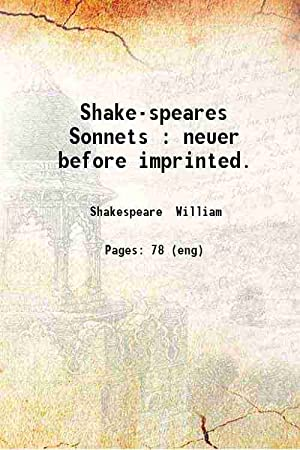 Shake-speares Sonnets (1609)[SOFTCOVER]: William Shakespeare