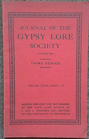 JOURNAL OF THE GYPSY LORE SOCIETY.THIRD SERIES.: Gypsy Lore Society].