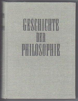 Geschichte der Philosophie Band 1 [Antike bis: Akademie der Wissenschaften