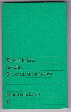 Walter Hollerer Erstausgabe Zvab