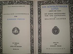 EIN ACHTBLÄTTRIGER LOTUS - Gebete der Nacht: Lechter, Melchior: