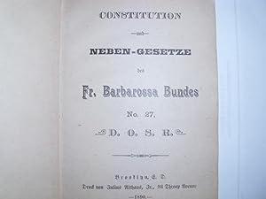Constitution und NEBEN-GESETZE des FR, BARBAROSSA BUNDES