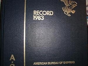RECORD of the American Bureau of Shipping: American Bureau Of