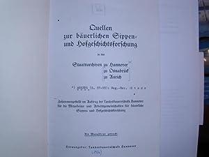 Quellen zur bäuerlichen Sippen- und Hofgeschichtsforschung in