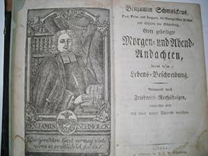 BENJAMIN SCHMOLCKENS, Past. Prim. und Inspect. der: Schmolck, Benjamin, Friedrich