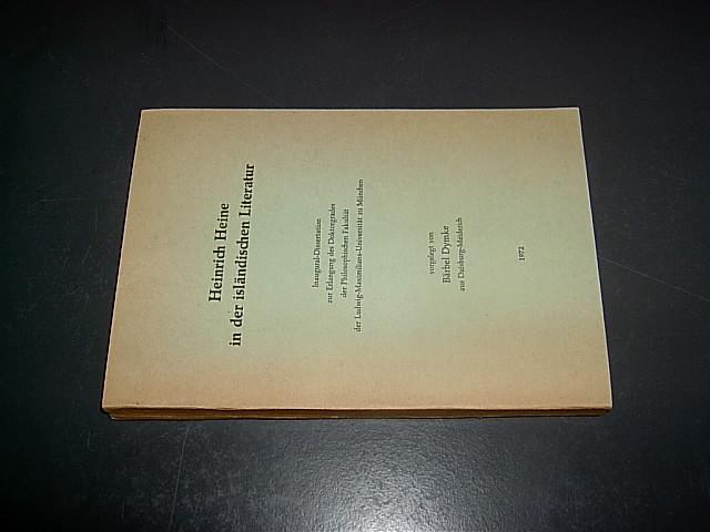 Heinrich Heine in der isländischen Literatur: Dymke, Bärbel.