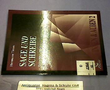 Sage und schreibe. Inszenierungen religioser Lesekultur. (= Innen und Außen, 2). - Timm, Hermann