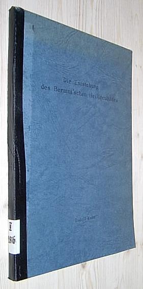 Die Entstehung des Bernini'schen Heiligenbildes. Dissertation über: Kuhn, Rudolf.: