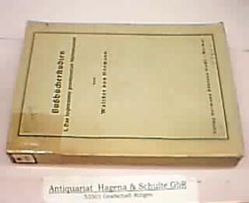 Bußbücherstudien. I. Das sogenannte poenitentiale Martenianum. (=: Hörmann, Walther von: