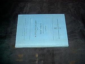 M. Tulli Ciceronis scripta quae manserunt omnia.: M. Tullius Cicero.