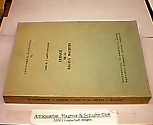 Lexique de la Regula Magistri. (= Instrumenta: Cappuyns, M. J.: