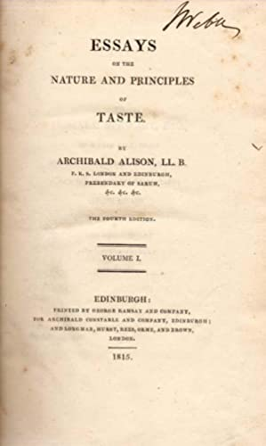 Essays on the Nature and Principles of Taste.