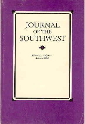 Journal of the Southwest, Volume 32, Number: Joseph Carleton Wilder