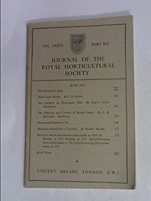 JOURNAL OF THE ROYAL HORTICULTURAL SOCIETY JUNE: R.H.S