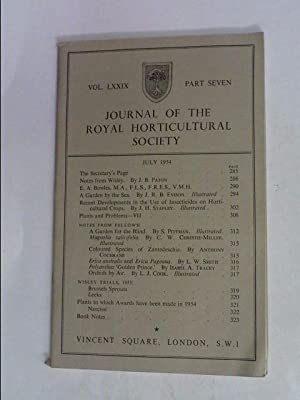 JOURNAL OF THE ROYAL HORTICULTURAL SOCIETY JULY: R.H.S.