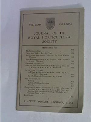 JOURNAL OF THE ROYAL HORTICULTURAL SOCIETY SEPTEMBER: R.H.S