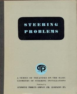 Steering Problems. A Series of Treatises on the Basic Geometry of Steering Installations [ ie for...