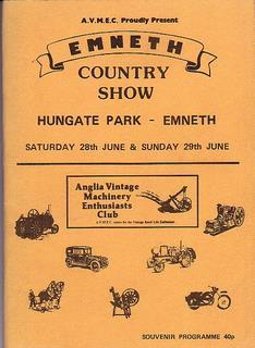Emneth Country Show. Programme for 28th & 29th July, 1986