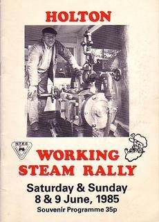 Holton Working Steam Rally Programme 8 & 9th June, 1985