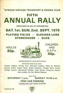Fifth Annual Rally. Programme 1st & 2nd Sept. 1979