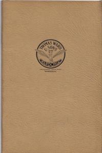 Wardonia Catalogue No. 1500. [ Penknives, Razors, Etc. ]: Thomas Ward & Sons Limited, Cutlery, ...