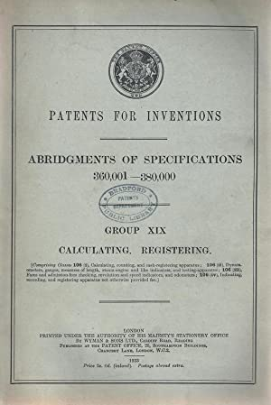 Calculating & Registering Apparatus [ Calculating Machines, Gauges, Odometers, Etc.] Patents for ...